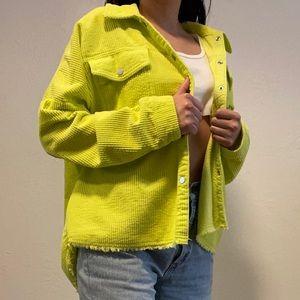 Lime Corduroy Jacket